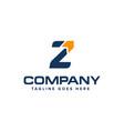 letter z and arrow logo design abstract logo vector image vector image