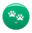 lion step icon green vector image vector image