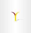 logo y letter y red yellow icon vector image vector image