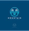 m logo mountain equipment climbing sport vector image vector image