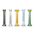 marble antique column set vector image