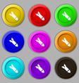 MissileRocket weapon icon sign symbol on nine vector image