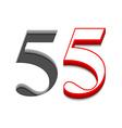 number five design vector image