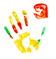 Paint print of human hand vector image vector image