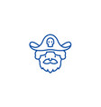 pirate line icon concept pirate flat vector image vector image