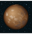 Planet Mars in space vector image vector image