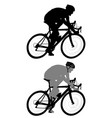 race bicyclist silhouette vector image