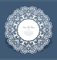round card with cutout lace border vector image vector image