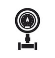 sanitary equipment water meter with pipeline vector image