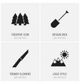 set of 4 editable travel icons includes symbols vector image vector image