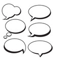 set of speech bubbles bubbles vector image
