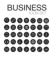 set of web line icons for business finance and vector image vector image