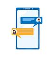 social media concept social networks mobile vector image vector image
