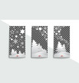 social network christmas stories templates vector image