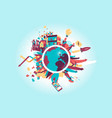 the circle routine of the contemporary world vector image