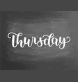 thursday handwriting font calligraphy vector image vector image