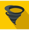 Tornado icon in flat style vector image