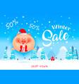 winter sale bannerdiscount poster vector image