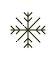 winter snowflake cold weather nature line design vector image