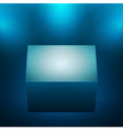 3d isolated empty blue podium vector image