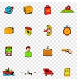 Logistics set icons vector image