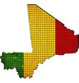 Mali map with flag inside vector image