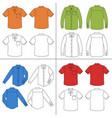 mans shirt set vector image