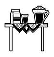 milk and juice vector image