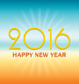 2016 Happy New Year design over tropical style vector image