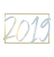 2019 new year decoration design vector image vector image