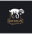 a ram or wild goat vector image