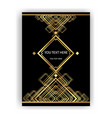 art deco template golden-black a4 page menu vector image vector image