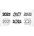 big set 2021 happy new year logo design vector image