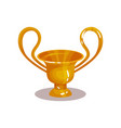 bright yellow amphora with two high handles icon vector image