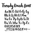 Brush written alphabet vector image vector image