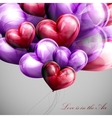 bunch of multicolored balloon hearts vector image vector image