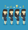 businesswoman during business planning vector image vector image