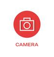 camera round flat icon photo symbol vector image