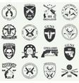 Classic Guns emblem vector image vector image