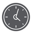 clock glyph icon hour and time wall watch sign vector image vector image