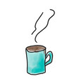 cup with hot drink tea vector image