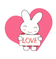 cute cartoon bunny girl in a pretty pink dress wit vector image vector image
