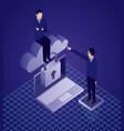 data network businessman concept vector image vector image