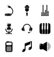electronic music icons set simple style vector image vector image