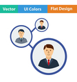 Flat design icon of Businessmen structure vector image vector image