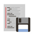 floppy copy program coding web development vector image vector image