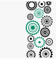 gear wheels diagram on white background vector image
