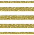 gold glitter striped pattern background vector image vector image