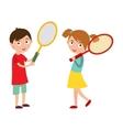Good looking tennis player vector image vector image