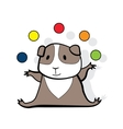 Hamster juggles colorfull balls vector image vector image